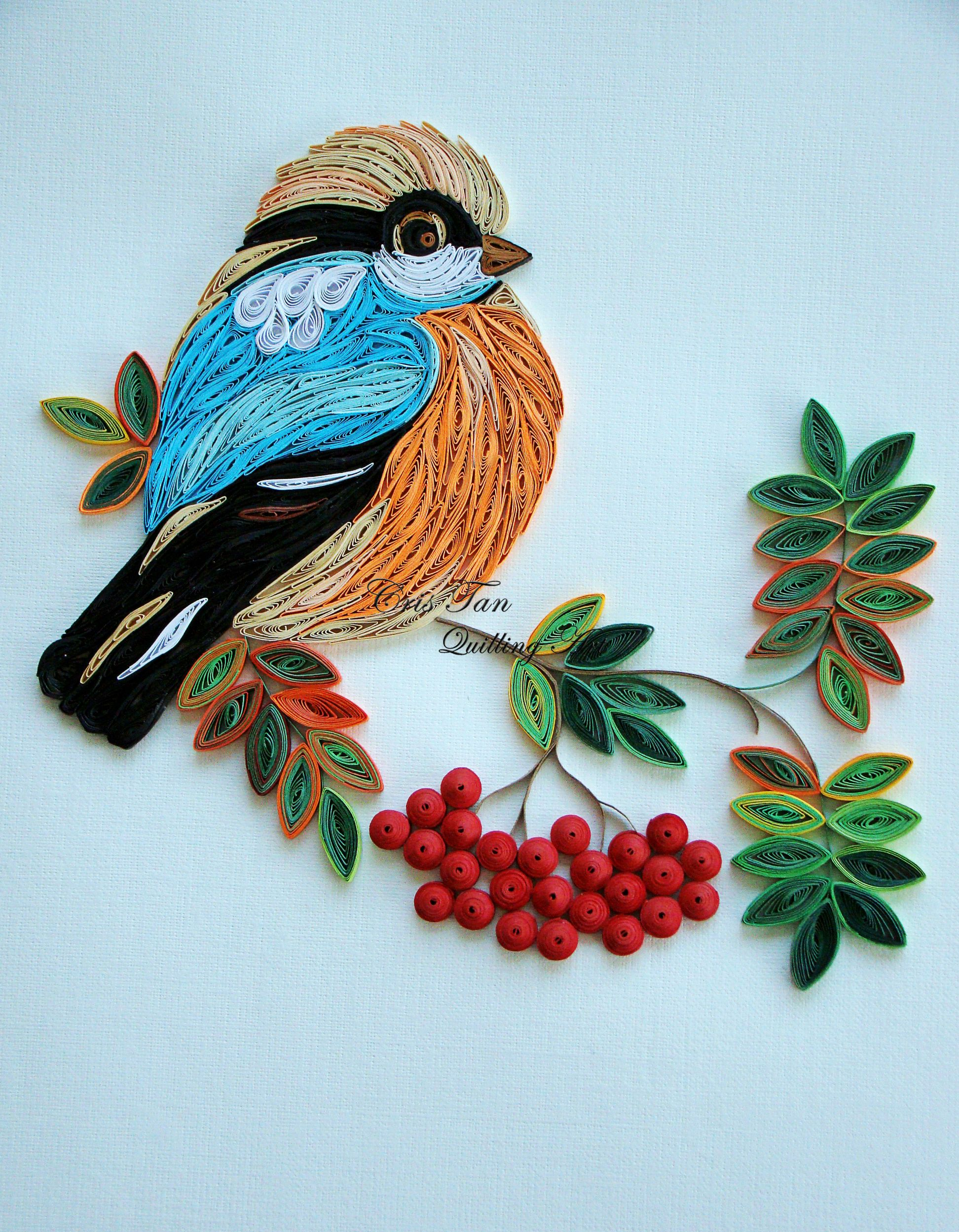 Quilling designs birds images for Quilling how to