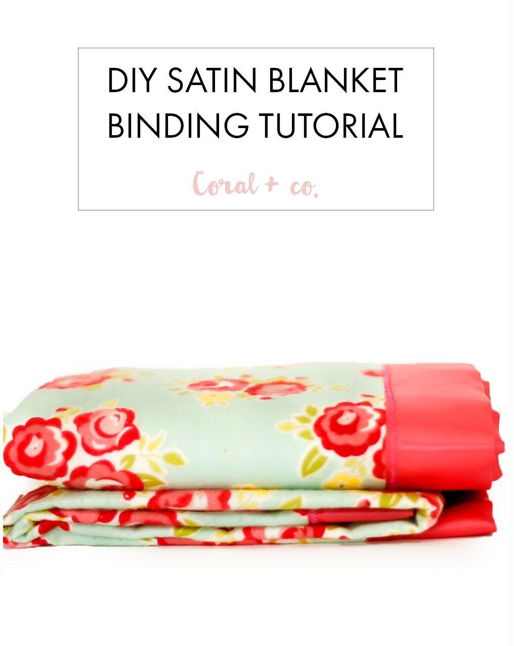 How to sew satin blanket binding baby blanket tutorial diy baby