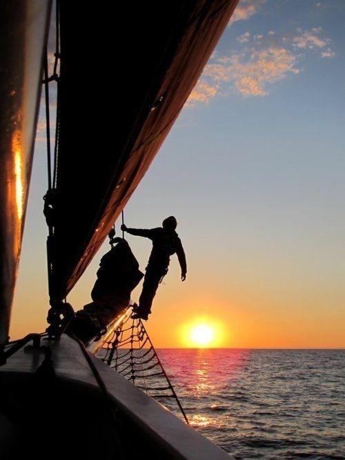 Esos momentos en que estás tú, solo, y el mar...