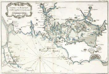 1 Vue Carte Du Morbian Et La Presqu Isle De Quiberon Bellin