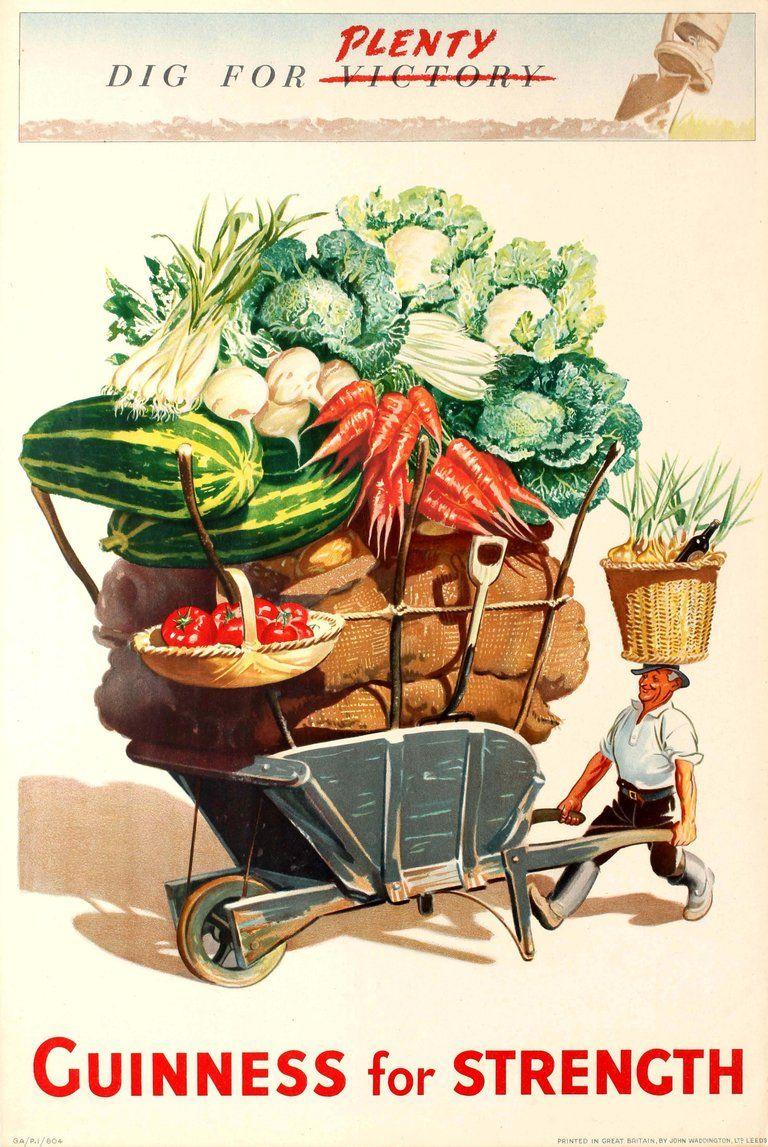 Guinness Beer Vegetable Cart Ireland Great Britain Vintage Travel Poster Print