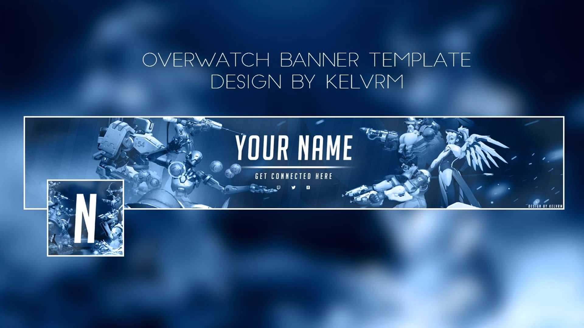 Overwatch Free Youtube banner template [+ avatar