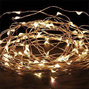 JinTo Guirlandes Lumineuse étanche Cuivre Fil 3m 30 LEDs Chaine de