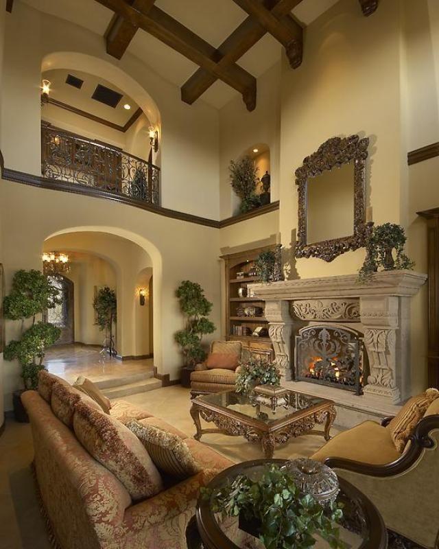 Rustic Luxury Living Room: Rustic Elegance - Luxury Calvis Wyant Homes