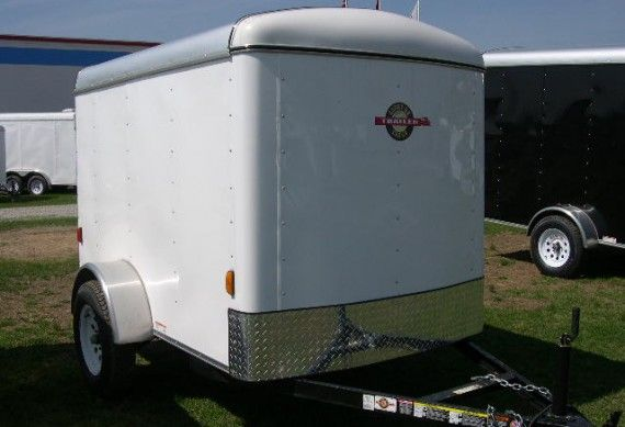 Carry On 5 X 8 Enclosed Cargo Trailer 3k Single Rear Door Cargo Trailers For Sale Cargo Trailers Trailers For Sale