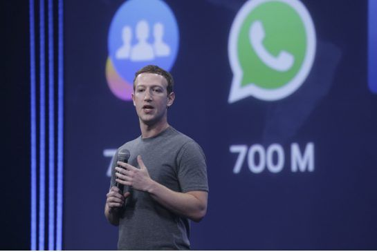 Mark Zuckerberg delivers a keynote speech at the Facebook F8 conference in San Francisco in March.