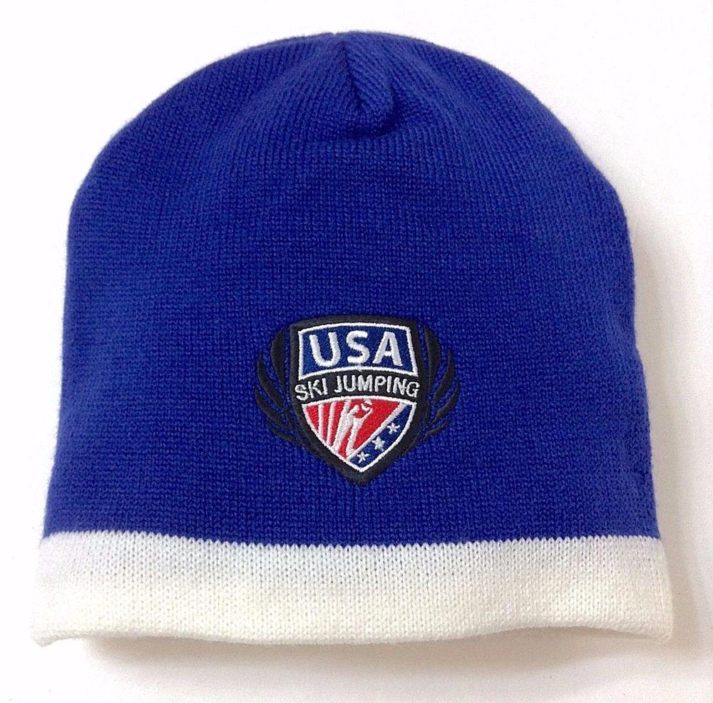 c18ff9f9579 Lagunitas-Brewing-Company TEAM USA SKI JUMPING BEANIE Winter Olympic Knit  Mens  HitWear  Beanie