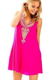 99cbca25b739a Owen Silk Trapeze Dress