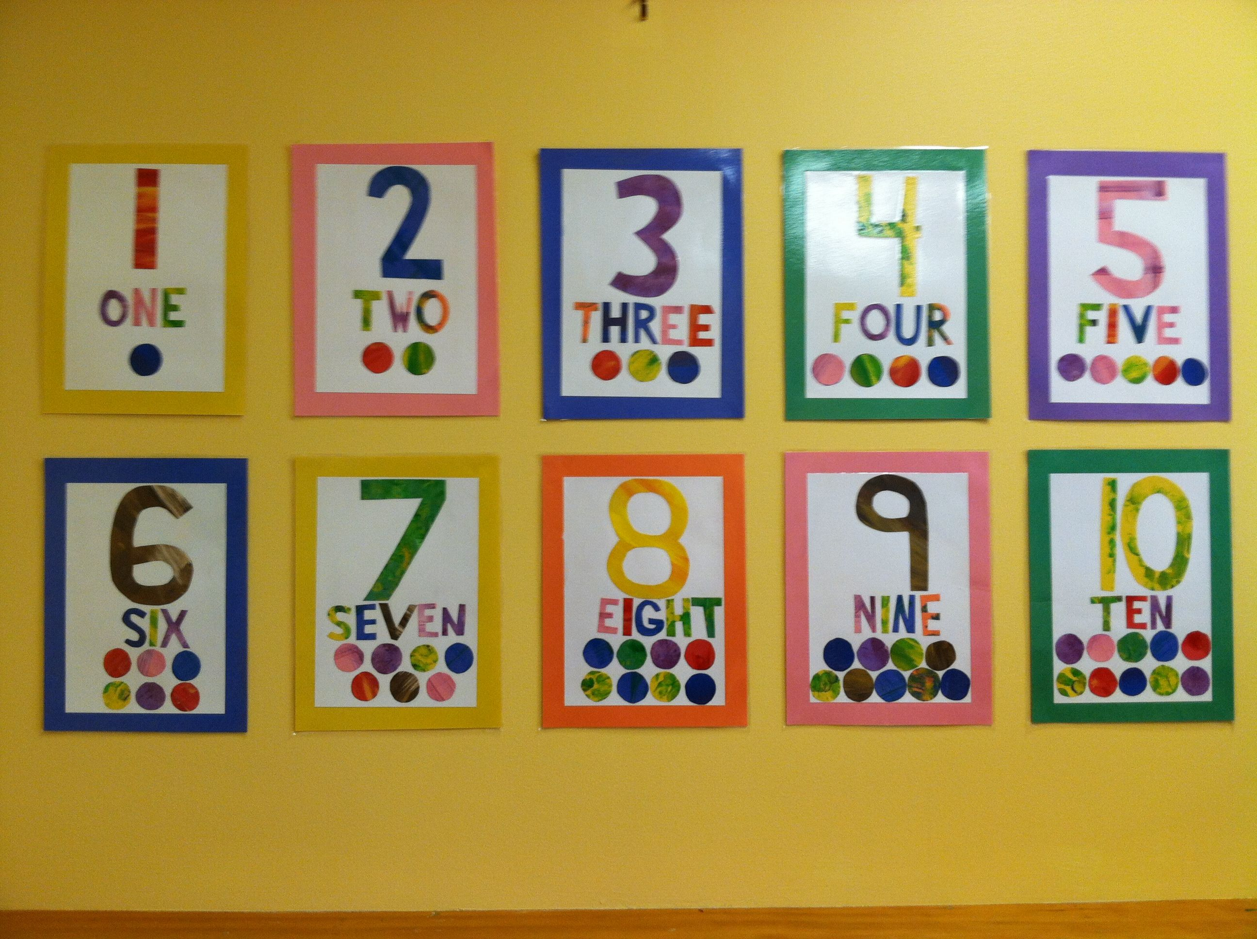 Eric Carle Style Numbers