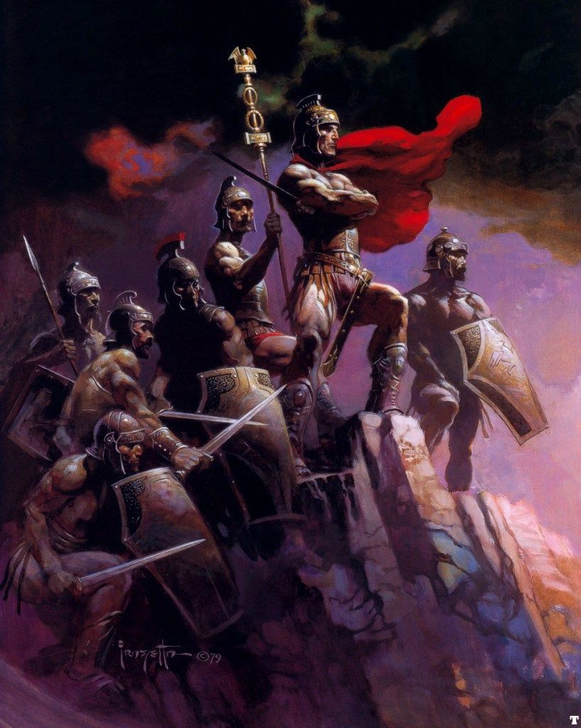 "1980 Full Color Plate /""Seven Romans/"" by Frank Frazetta Fantastic Soldier"