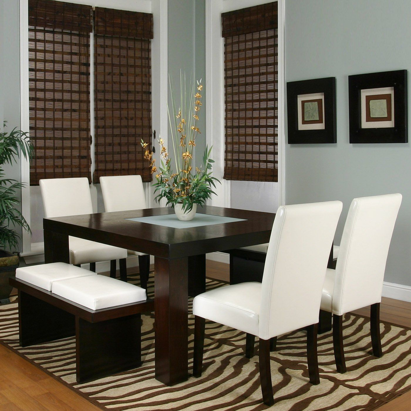 Square Dining Room Table With 8 Chairs 1000 Images About Home Decor Dining Room On Pinterest Square
