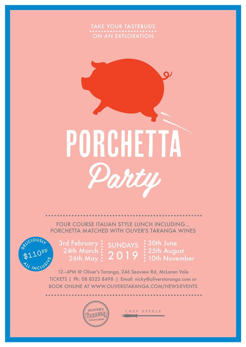 Porchetta Parties 2019 Wine delivered, Need friends