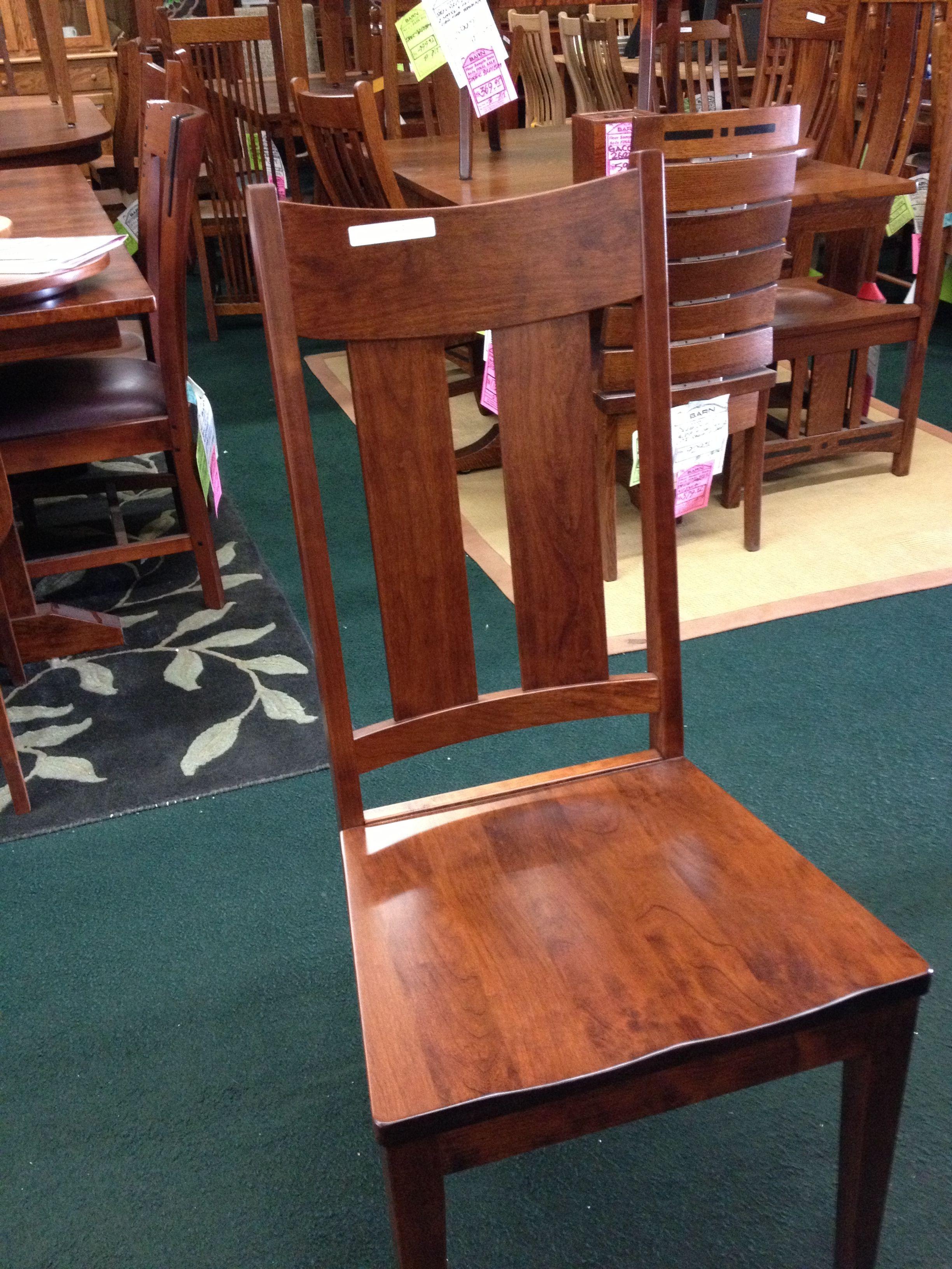 My Chairs But Dark Walnut Stain Quarter Sawn Oak Van Nuys Barn Furniture.  Super Comfortable