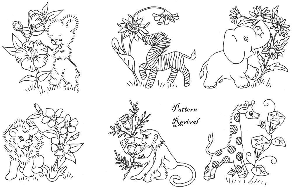Embroidery+Quilt+Jungle+Animals+baby+crib+by