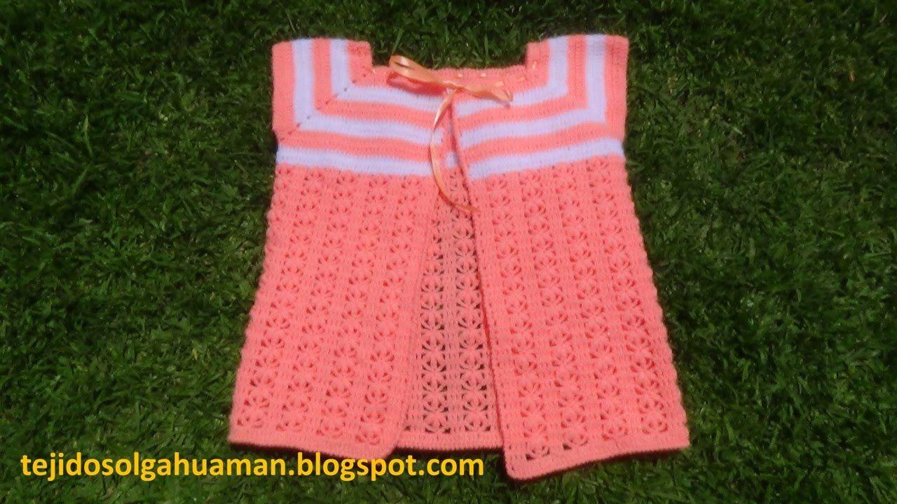 27ea94fb7 chaleco tejido a crochet para niña de 1a 3 años paso a paso | SOLO ...