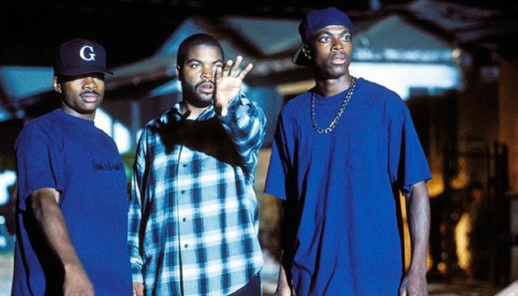 Director f gary gray on the set of friday with ice cube