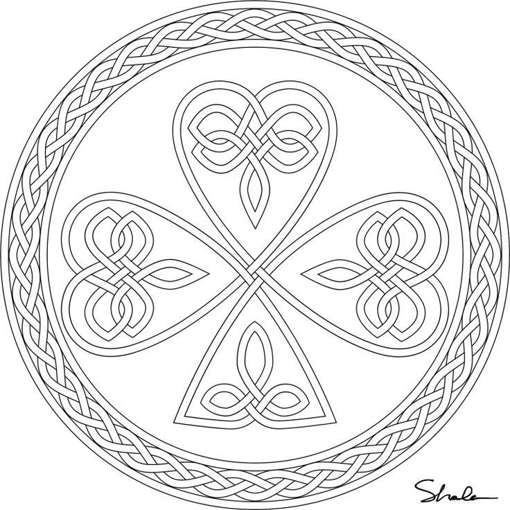 Don\'t Eat the Paste: Shamrock coloring page | Mandala ...