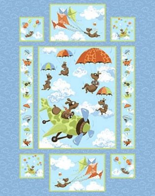 Susybee Panels Sb 20001 730 Blue Zig The Flying Ace Dog