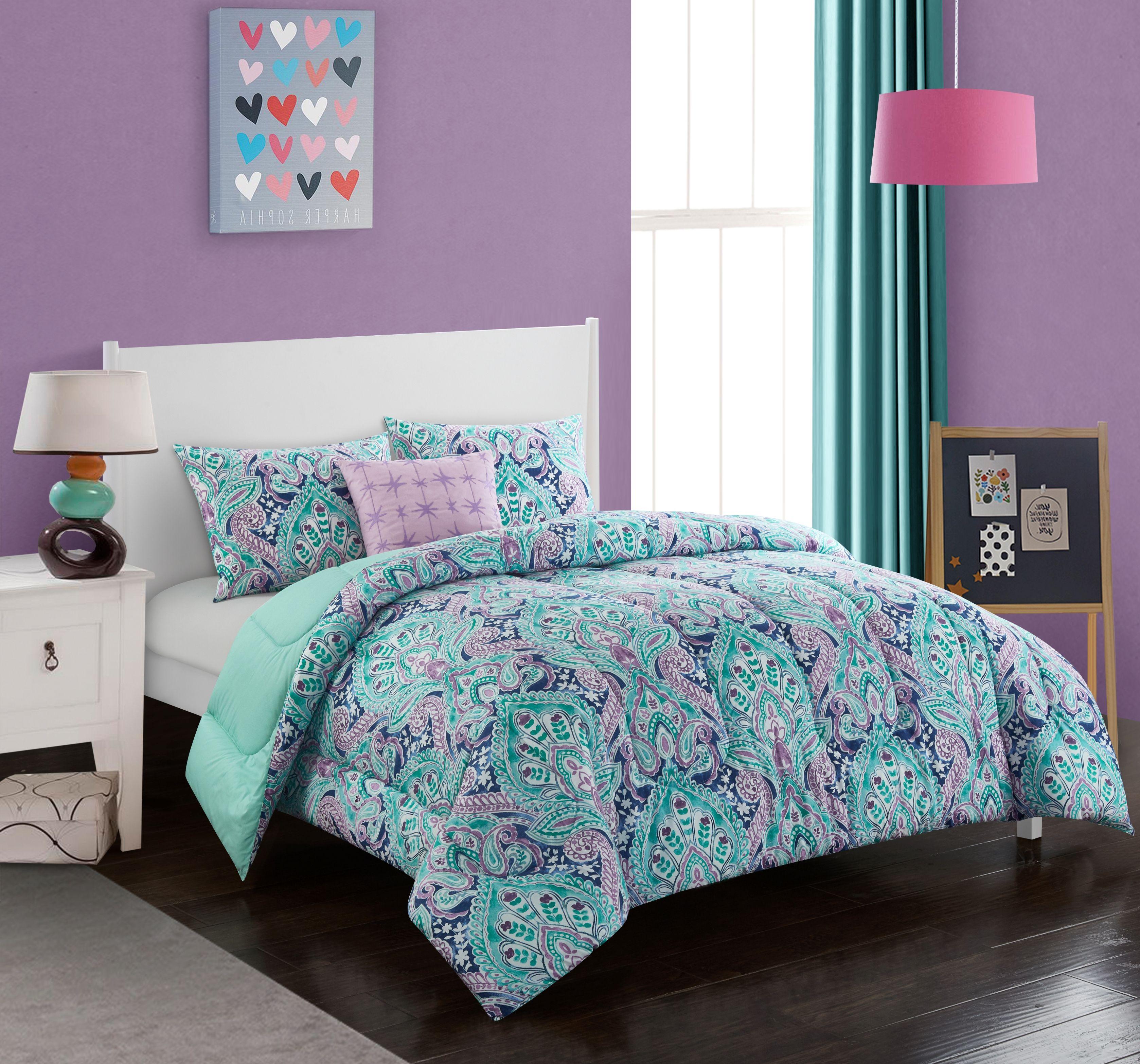 Better Homes Gardens Fanning Floral Comforter Set Walmart Com
