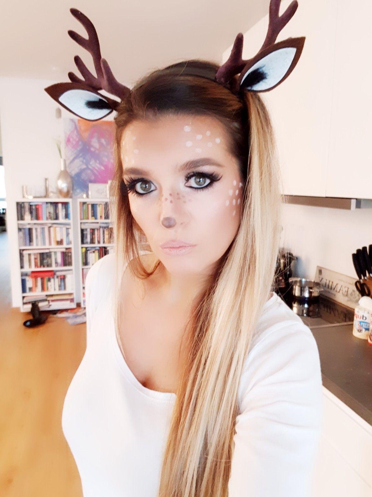 mein reh make up 2018 reh schminken karneval deer make. Black Bedroom Furniture Sets. Home Design Ideas