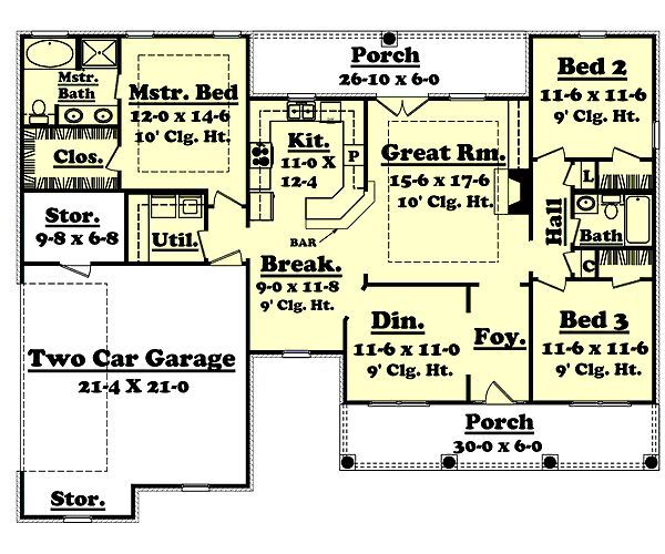 1600 square foot house plans 1600 square feet 3 bedrooms for 1600 to 1700 square foot house plans