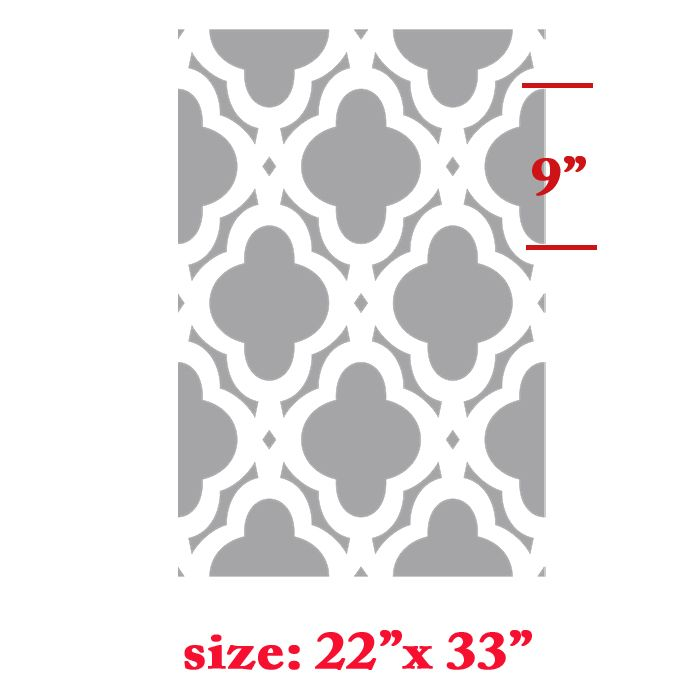 moroccan shapes templates - mac quatrefoils abstracted swirls wall stencil allover