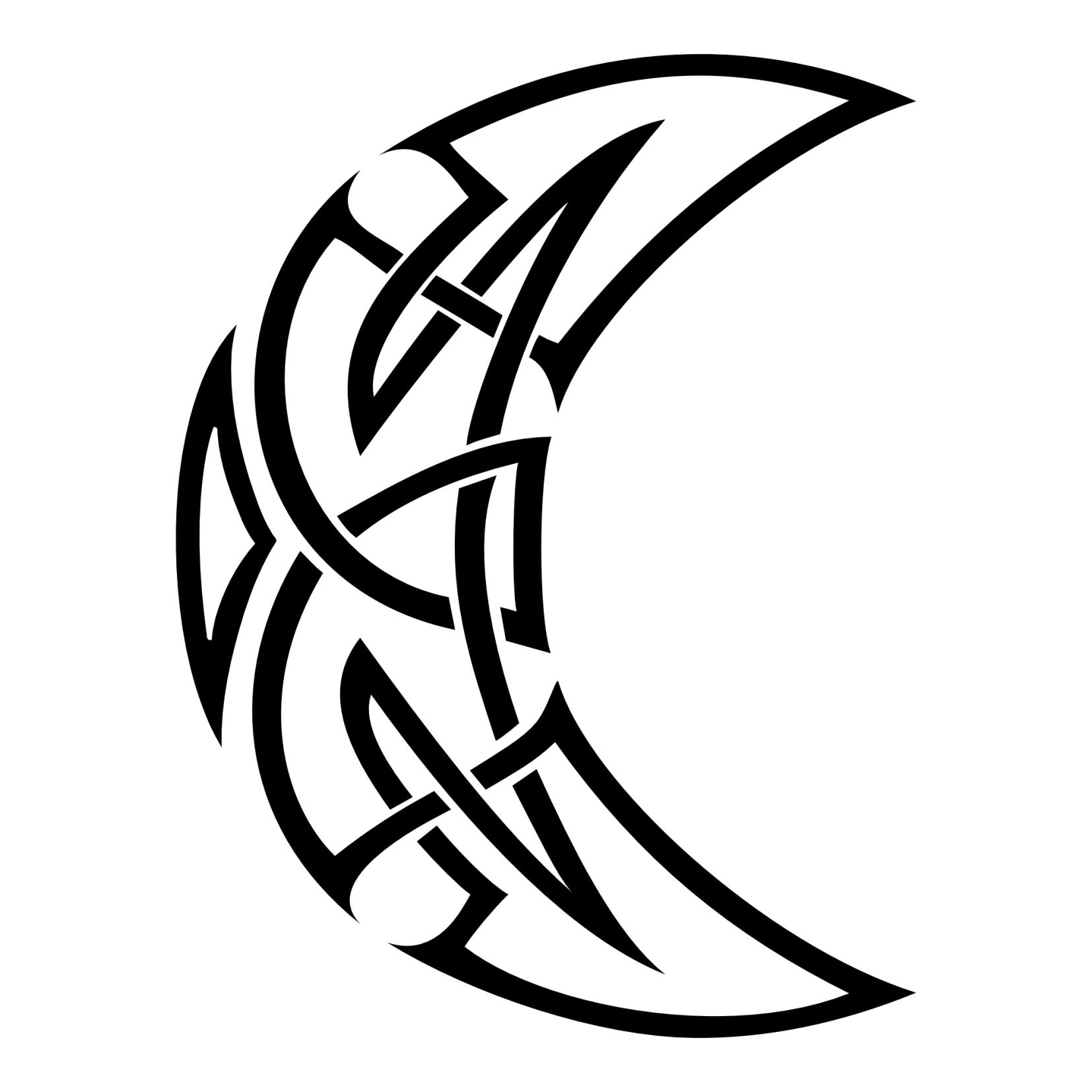 7dda5efa1b28d Celtic moon flash tattoo | Tattoos | Celtic tattoos, Moon tattoo ...
