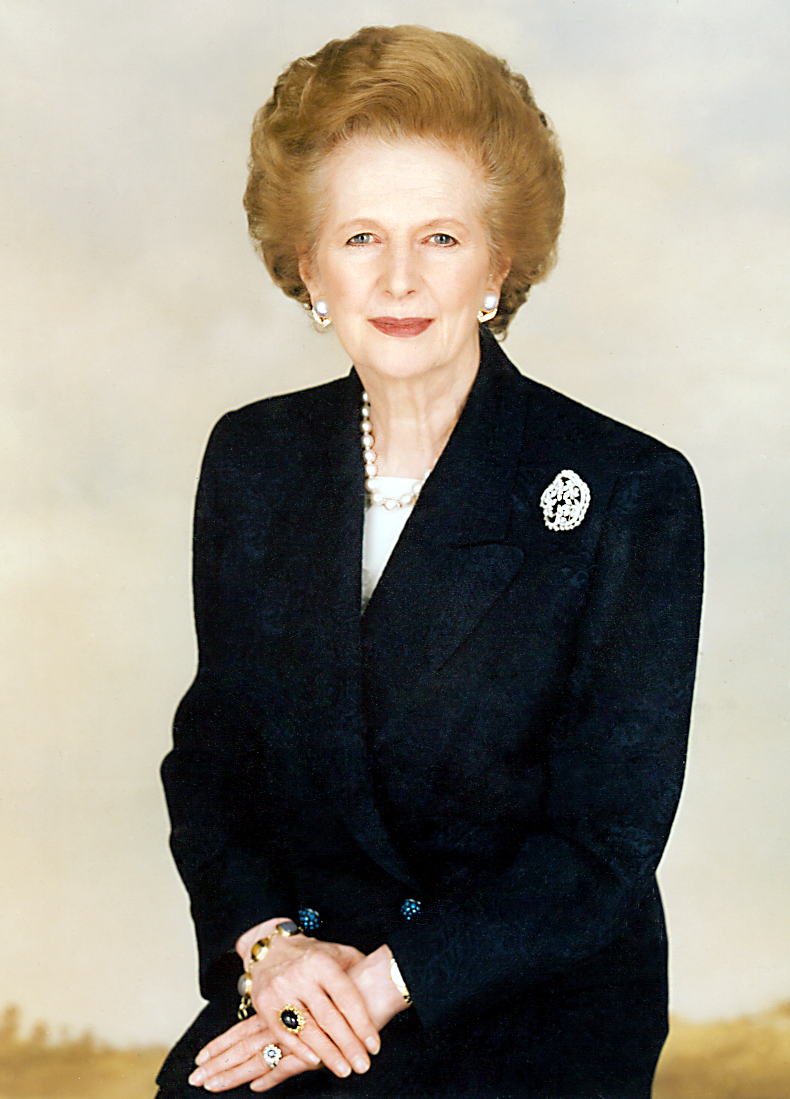 """Margaret Thatcher (1925 – 8 April 2013) Thatcher was the first — and still only — female prime minister in Britain's history.  She rescued Britain from ruin & laid the groundwork for an extraordinary economic renaissance, during her 11 year term.  Known as the """"Iron Lady"""", a nickname that became associated with her uncompromising politics & leadership style, she simply would not allow Britain to be pushed around, particularly by military dictators."""