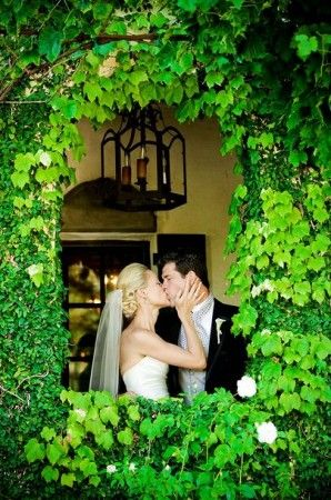 Malissa and Brian at the Kenwood Inn in Sonoma