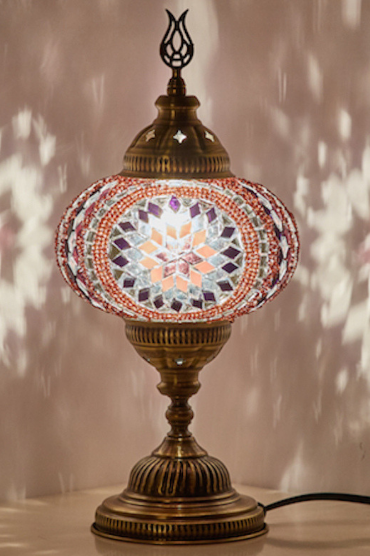 Handmade Boho Table Lamp In 2020 Turkish Lamps Cool Floor Lamps