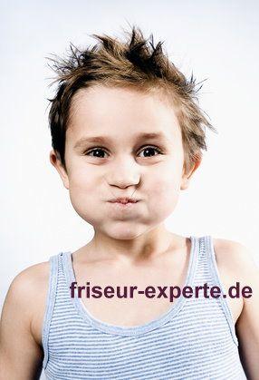Kinderfrisur Junge Mit Frechem Haarschnitt Musterfoto For Cool