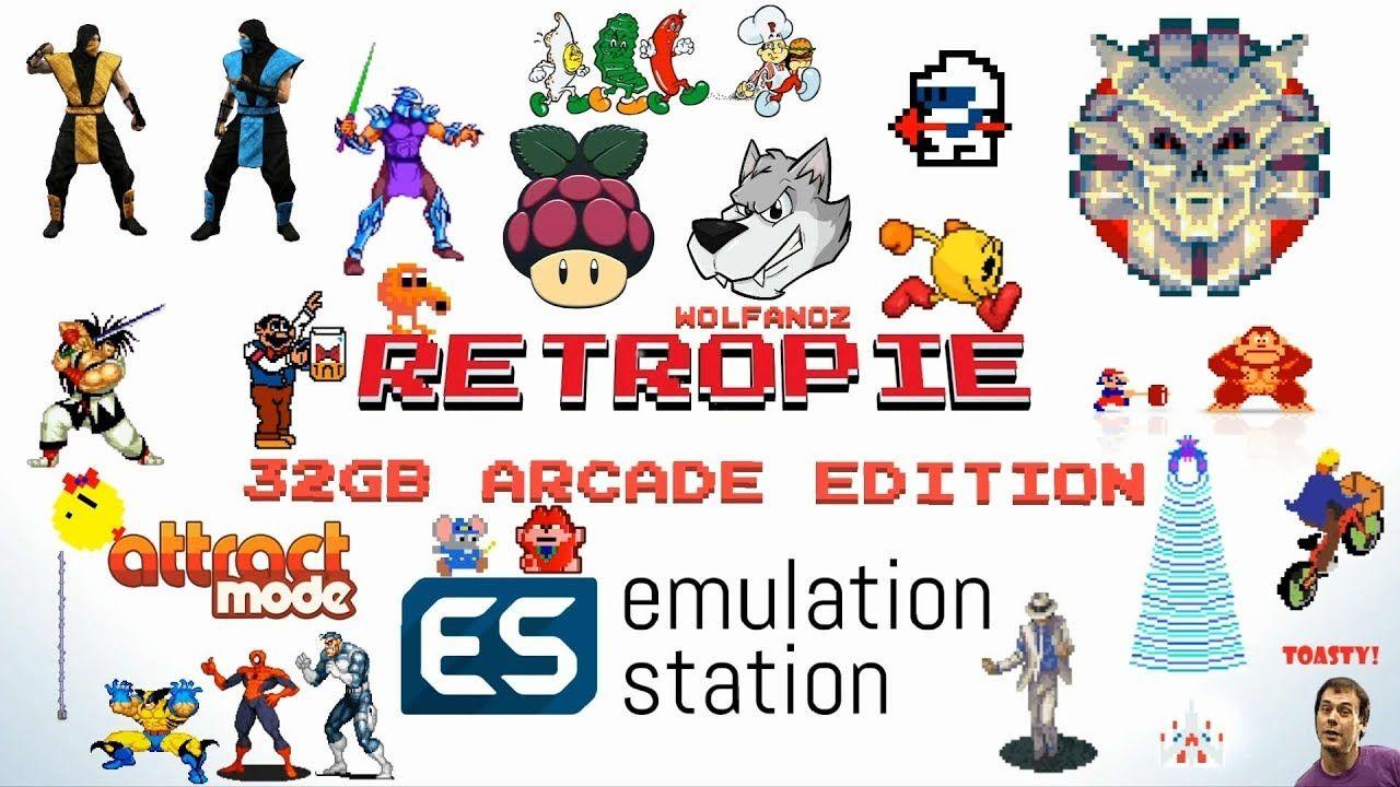 32gb Arcade Only Retropie 4 4 MAME Wolfanoz - YouTube
