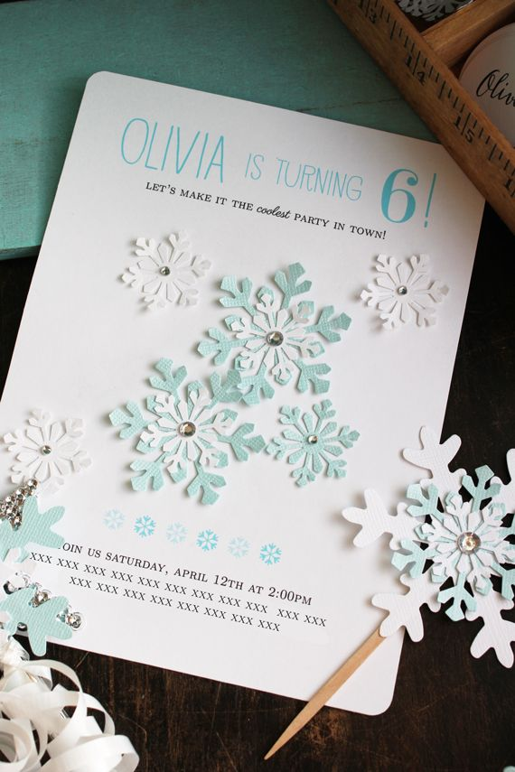 DIY Frozen Party – Diy Girl Birthday Party Invitations