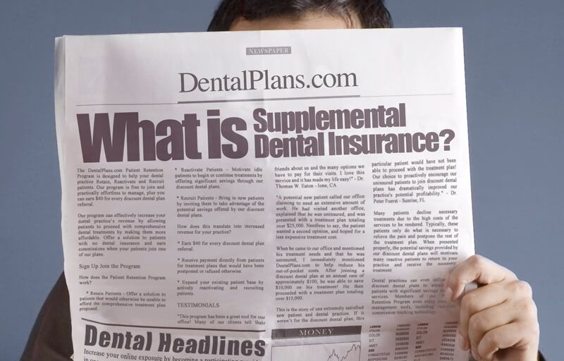 Supplemental dental insurance is purchased to fill the