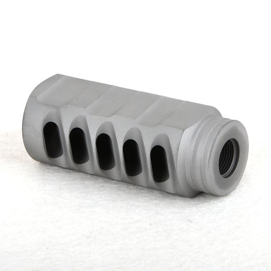 Stainless Steel .223//5.56 Muzzle Brake 1//2x28 Pitch Thread W// Crush Washer