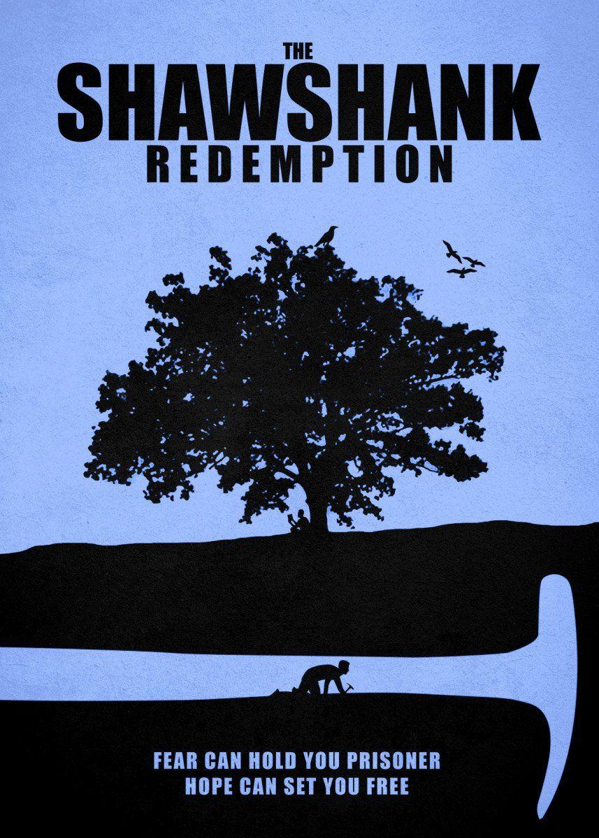 Size 24 x 36 USA Version SHAWSHANK REDEMPTION MOVIE POSTER