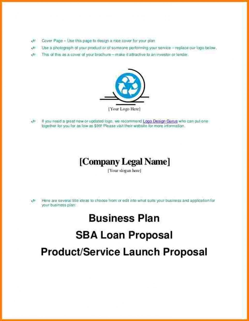 Business Plan Cover Page Sample Pdf Apa Format Letter with
