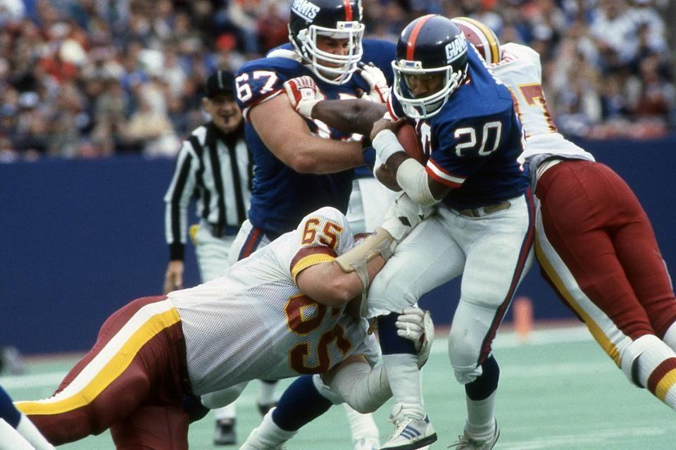 Giants joe morris 20 vs washington october 20 1985