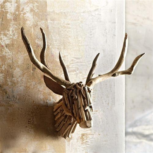 Driftwood Deer Head Mount Inspiration Hunting Trophy