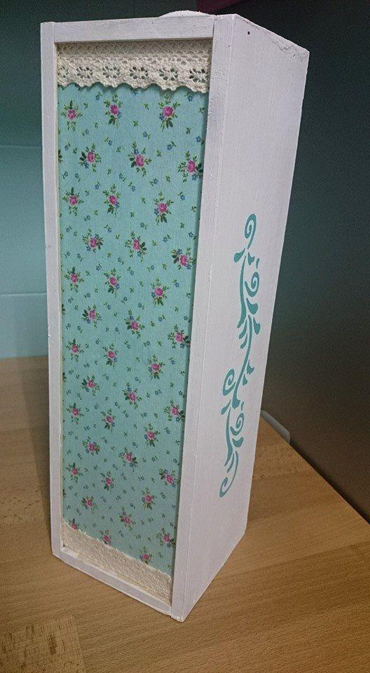 Caja de vino con decoupage Decoupage Pinterest Cajas de vino