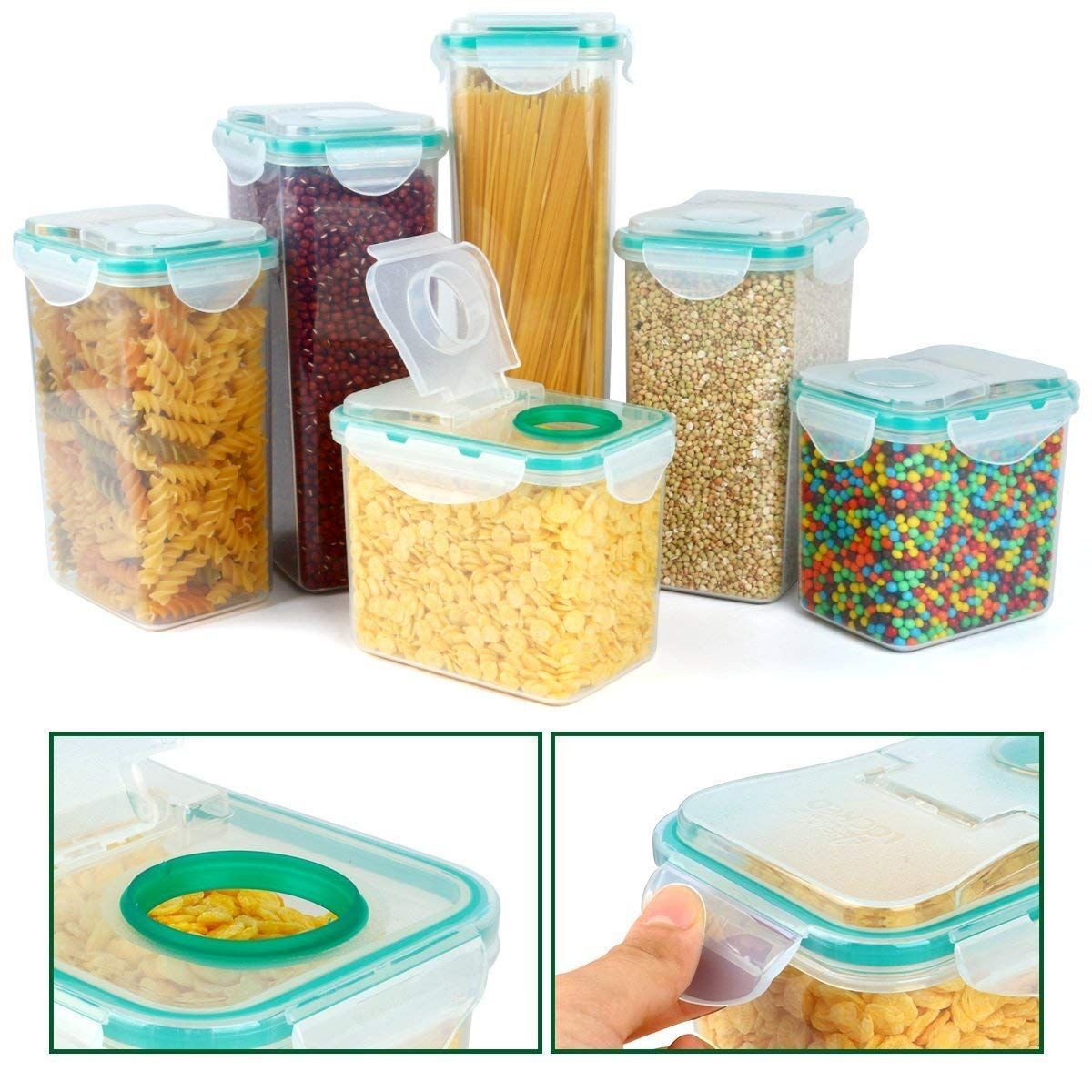 Cereal Container Verones Airtight Plastic Storage Containers Perfect For Food Storage Conta Dry Food Storage Food Storage Containers Kitchen Storage Containers