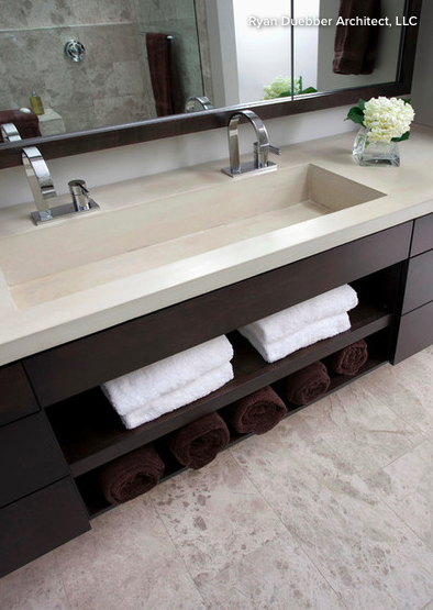 Like The Idea Of One Sink With 2 Sets Of Taps Like This Sink But