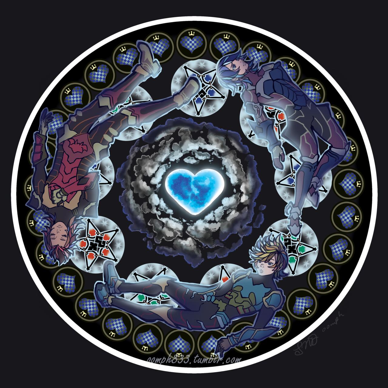 Wayfinder Trio Kingdom Hearts Wallpaper Kingdom Hearts Fanart Kingdom Hearts Tattoo