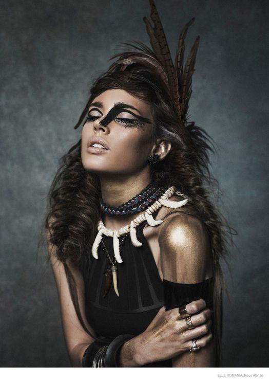 Ethnic Fashion Editorial Tribal Chic Fashion, pour Elle