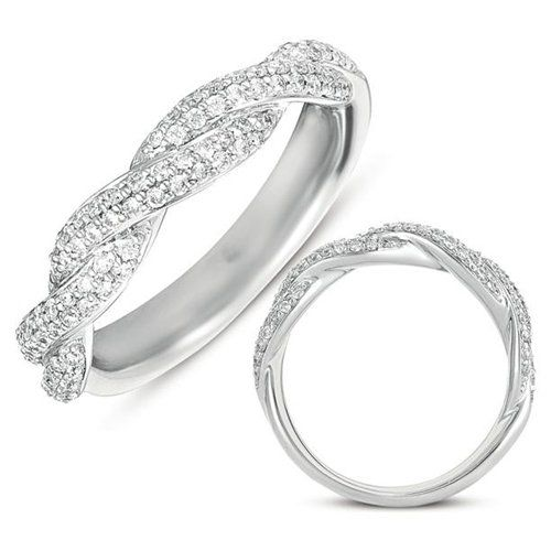 Braided Diamond Wedding Band Love This Idea Instead Of Engagement Ring And I Can Barely Keep Up With Myself Much Less Two Rings