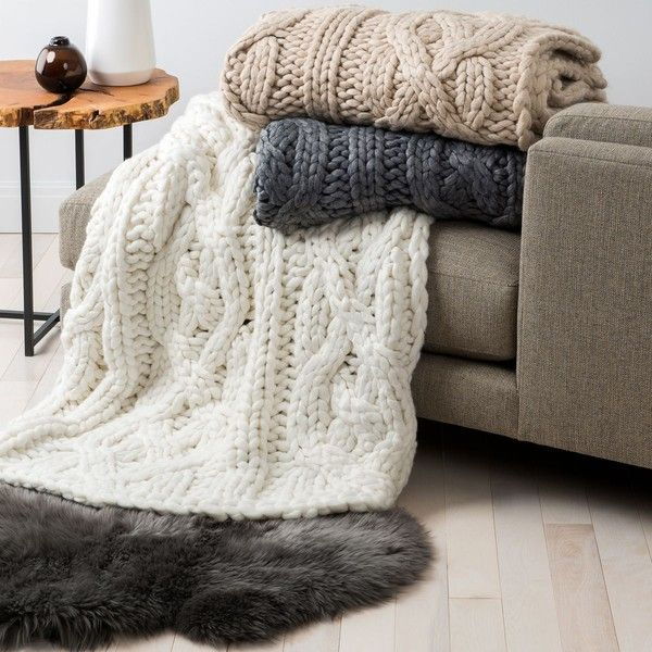 Ugg Throw Blanket Fascinating Ugg Oversized Knit Throws $345 ❤ Liked On Polyvore Featuring Home Decorating Design