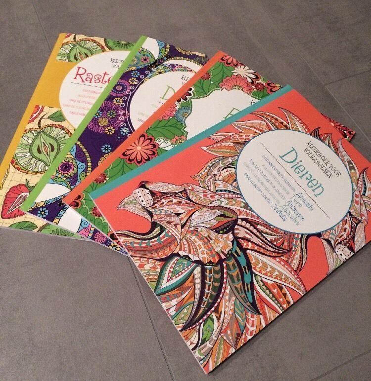 4x Malbuch Set Mandala Bild Ausmalen Motiv Stift Malen Geschenk ...