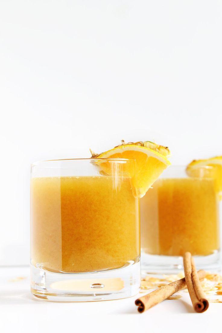 Pineapple cider rum cocktail