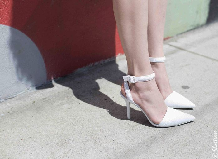 be47fa59136 Alexander Wang White Textured Leather Lovisa Pumps