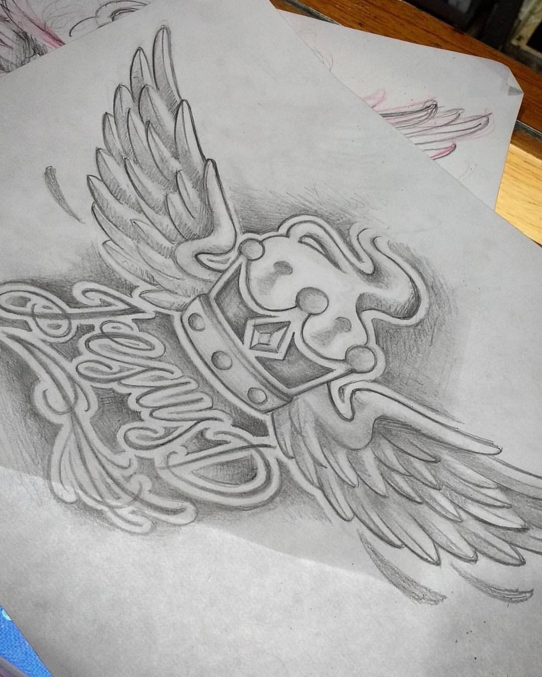 Crown and wings design tattoo arte pinterest design tattoos